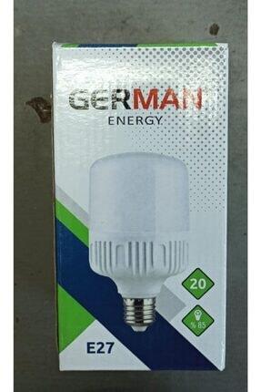 GERMANY 5 Adet German Energy 20 Watt Beyaz E27 Duylu Led Ampul