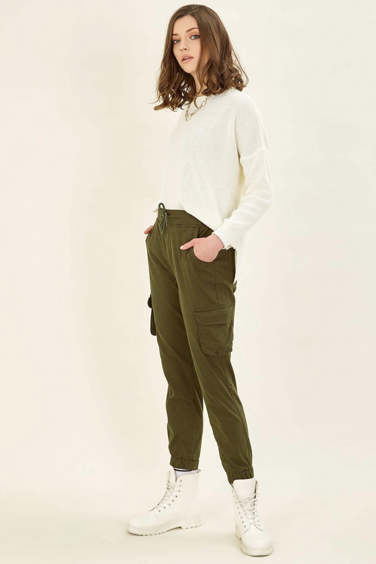 Arma Life Kadın Haki Kargo Pantolon 2