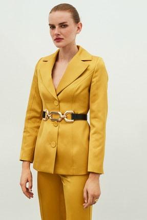 İpekyol Kadın Sarı Bel Vurgulu Ceket IW6200005099