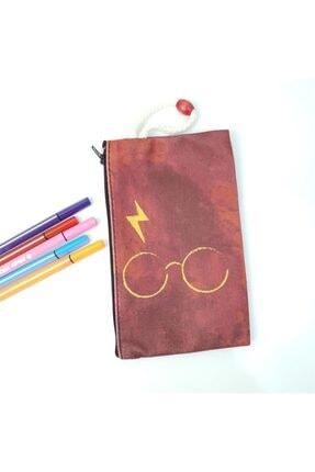 BAREM BUTİK Bordo Harry Potter Gözlük Bez Kalemlik