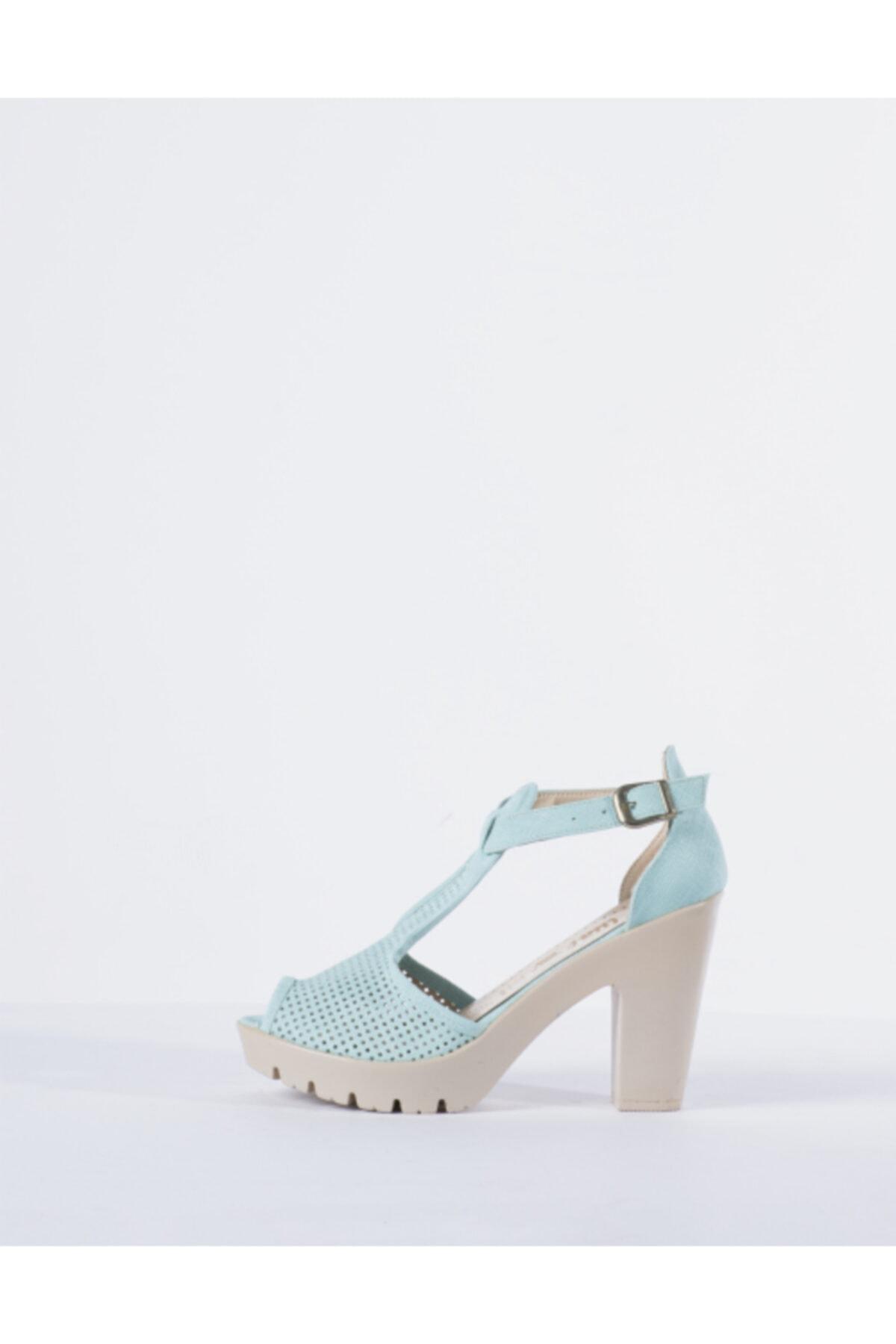 Vision Kadın Yeşil Topuklu Ayakkabı 1