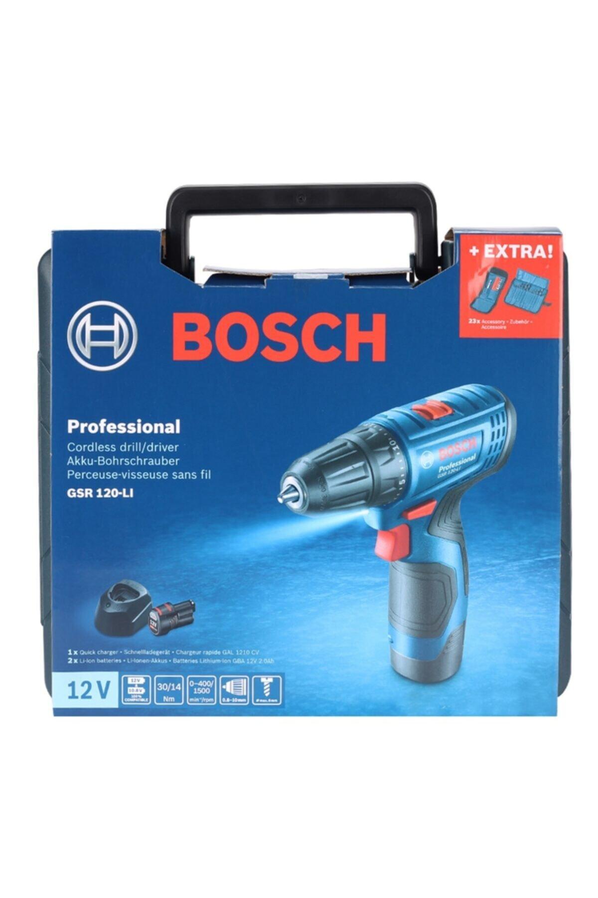Bosch Gsr 120-lı 2 Ah Şarjlı - Akülü Delme Vidalama Makinası - 06019g8002 2