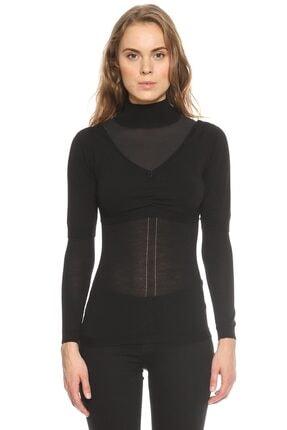 Nina Ricci Kadın Siyah Triko Bluz