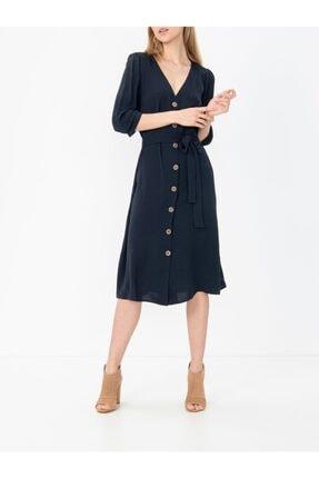 Only Lacivert Renk Beldan Bağlamalı Elbise