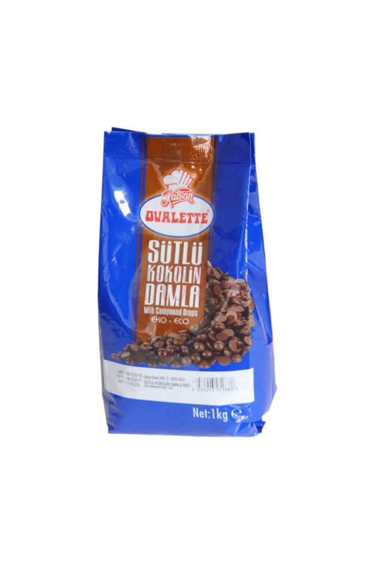 ovalette Sütlü Kokolin Damla Çikolata 1 kg 1
