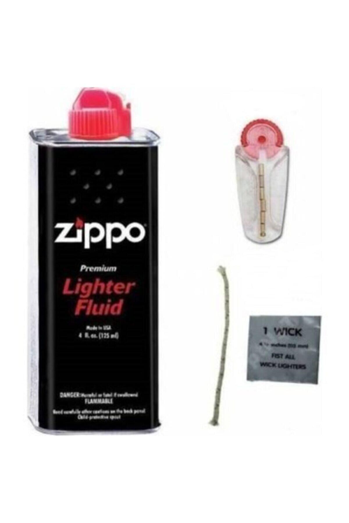 Zippo Orijinal Benzin Orjinal Taşı Ve Fitil 1