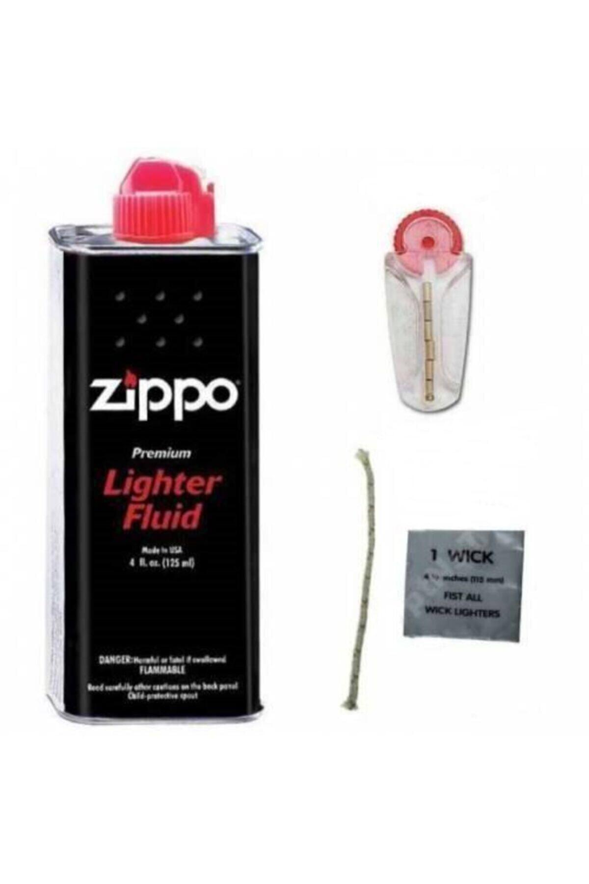 Zippo Orijinal Benzin Orjinal Taşı Ve Fitil 2