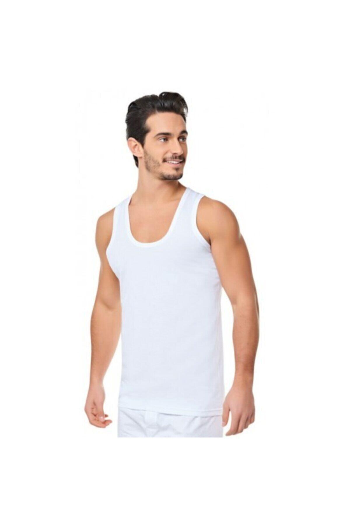 Albak İç Giyim Erkek 12'li Adet Klasik Beyaz Atlet - Albak 1