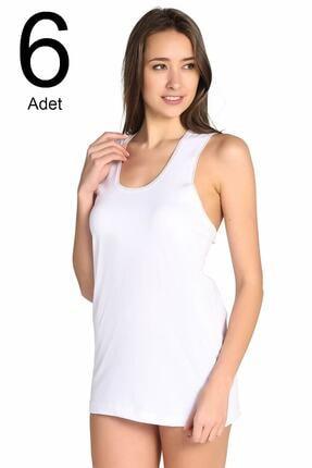 Seher Kadın Beyaz 6'lı Paket  Atlet ELF568S0010CCM6