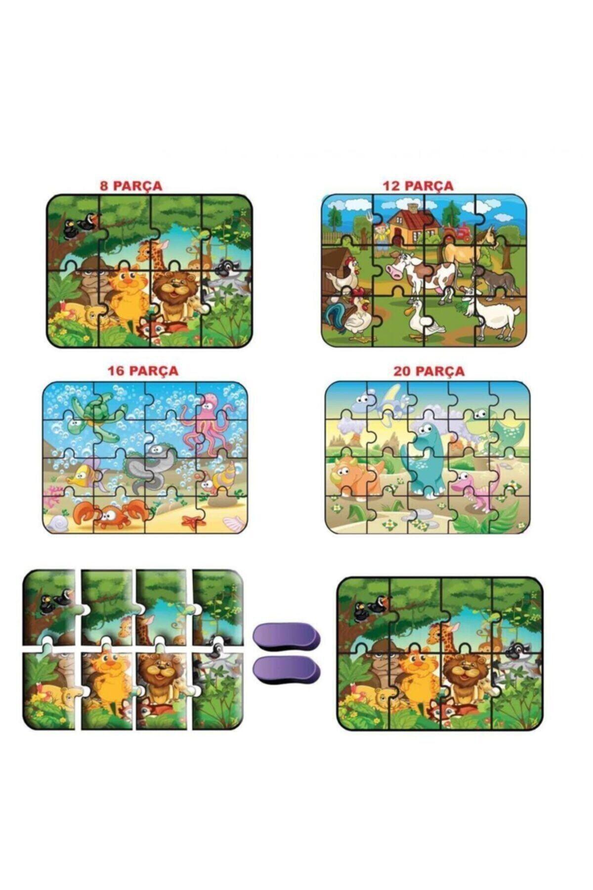 DIY Toys Hayvanlar Süper Renkli Puzzle 4'lü 1481 2