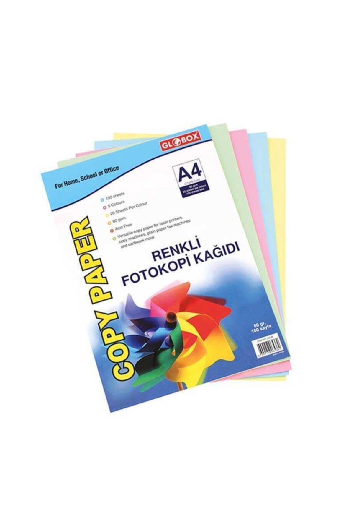 Globox Renkli 100'lü A4 Kağıdı 1