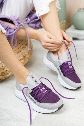 Riccon Kadın Buz Mor Sneaker 0012072