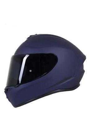 AXXIS Kask Draken Matt Blue Motosiklet Kaskı