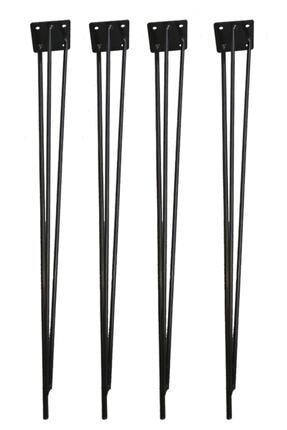 Evnalia Metal Firkete Ayak Kaşıklık Orta Sehpa Zigon Kütük Ayak  46 cm 4'lü