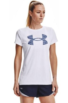 Under Armour Kadın Spor T-Shirt- Tech Solid BL SSC - 1365143-100