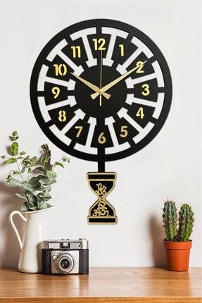 Sokaktaki Hediyem Klasik Zaman- Altın Premium Sallanır Sarkaçlı Duvar Saati