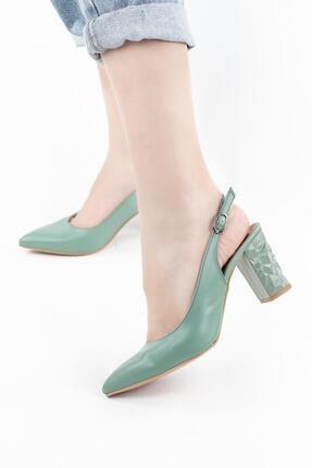 Gökhan Talay Kadın Arkası Açık Ökçe Detaylı Topuklu Ayakkabı