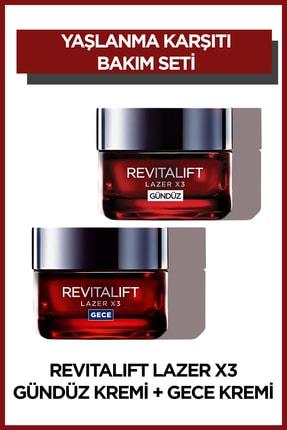 L'Oreal Paris L'Oréal Paris Revitalift Lazer X3 Yoğun Yaşlanma Karşıtı Gündüz Bakım Kremi + Gece Bakım Kremi 50 ml
