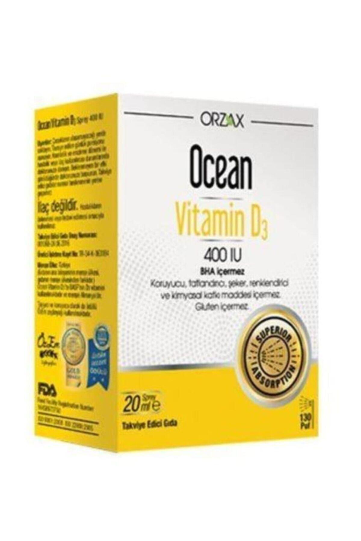 Ocean Orzax Vitamin D3 400'Iu Sprey 20ml 1