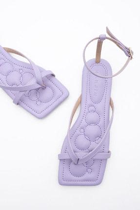 Marjin Kadın Lila Parmak Arası Sandalet