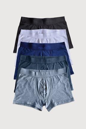 Malabadi Erkek 5 Li Paket Modal Likralı Boxer Standart Boy Mb014