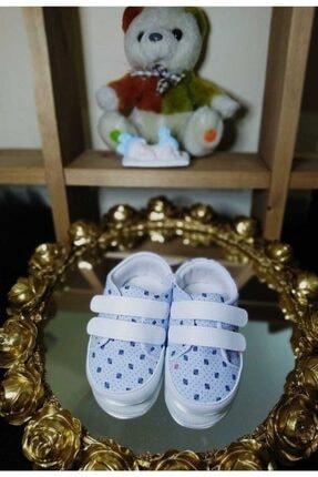 İPEK BEBE Bebek Pıtırcık Desenli Çıtçıtlı Ilk Adım Ayakkabı Patik Mavi