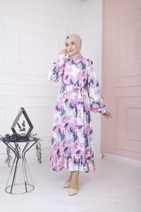 lamelif store Ahmet Aydın Lamelif Desenli Yazlık Elbise
