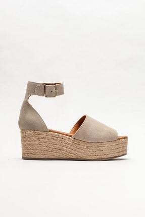 Elle Shoes Kadın Bej Deri Espadril
