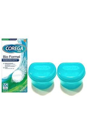 Corega Diş Protezi Temizleyici Tablet 136'lı + Protez Diş Saklama Kabı X 2 Adet