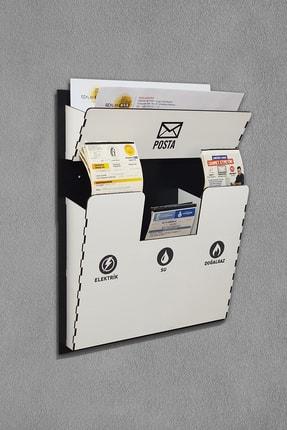 Reklamwar Beyaz Ahşap Fatura Kutusu Ve Posta Kutusu