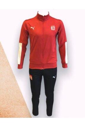 Puma Unisex Kırmızı Sivasspor Fermuarlı Eşofman Takımı