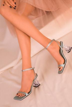 SOHO Yeşil Saten Kadın Klasik Topuklu Ayakkabı 15916