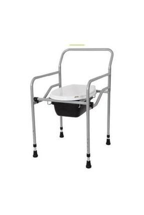 GİM Seyyar Katlanabilir Hasta Yaşlı Tuvalet Sandalyesi Klozetli Wc Li Oturak