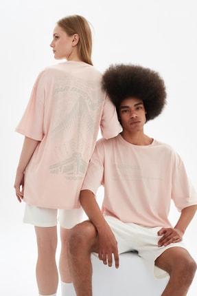 TRENDYOL MAN Pudra Unisex Oversize T-Shirt TMNSS21TS3346