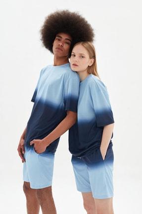 TRENDYOL MAN Açık Mavi Unisex Oversize T-Shirt TMNSS21TS3384