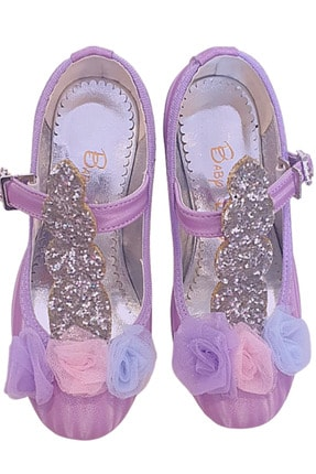 Baby DS Kız Çocuk Lila  Unıcorn Topuklu Ayakkbı