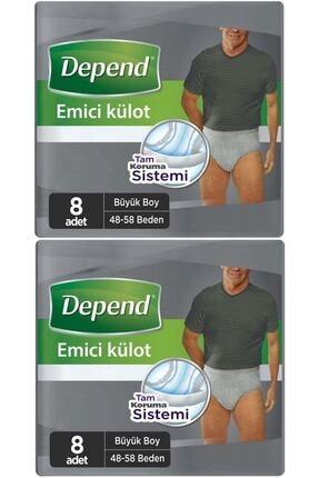 Depend Emici Külot Hasta Bezi Büyük Erkek 16 Adet (2pk*8)