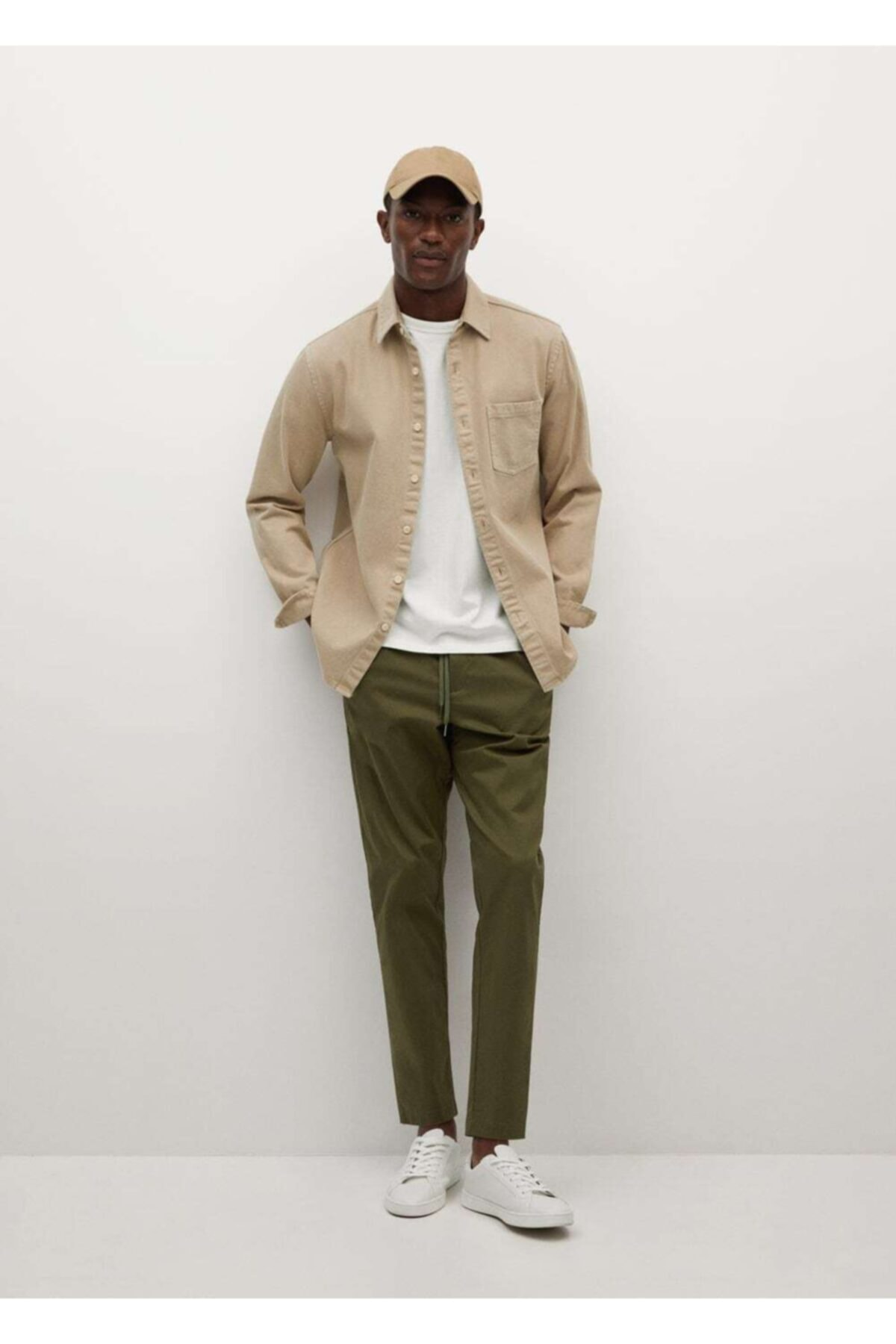 MANGO Man Jogger Tarz Pamuklu Pantolon 2