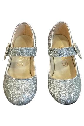 Baby DS Sparkle Topuklu Ayakkabı Gümüş 26