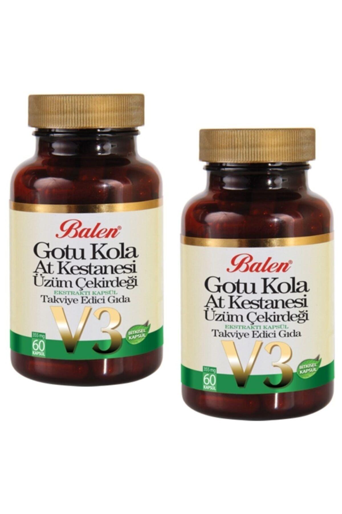 Balen Gotu Kola At Kes.üzüm Çek.ekstraktı V-3 Kap.355mg*60 2 Adet 1