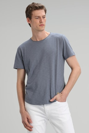 Lufian Junya Modern Grafik T- Shirt Koyu Gri