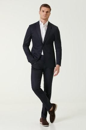 Network Erkek Drop 6 Slim Fit Lacivert Yün Takım Elbise 1079272