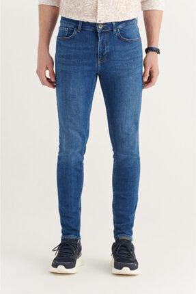 Avva Erkek Mavi Skinny Fit Jean Pantolon A11y3552