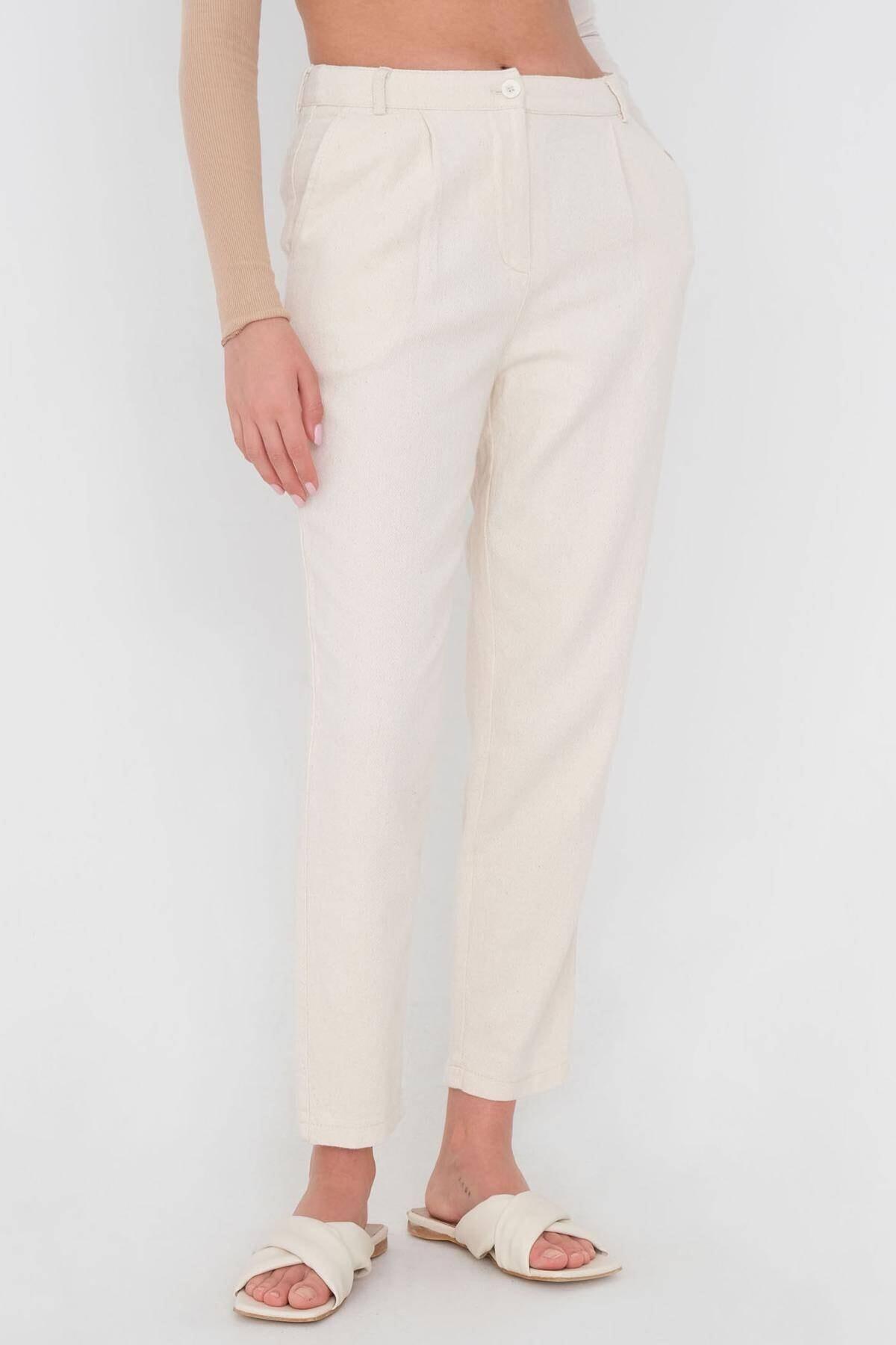 Addax Kadın Taş Cep Detaylı Pantolon Pn03-0045 - K12 Adx-0000024274