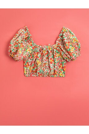 Koton Kids Kız Çocuk Pembe Çiçekli Bluz