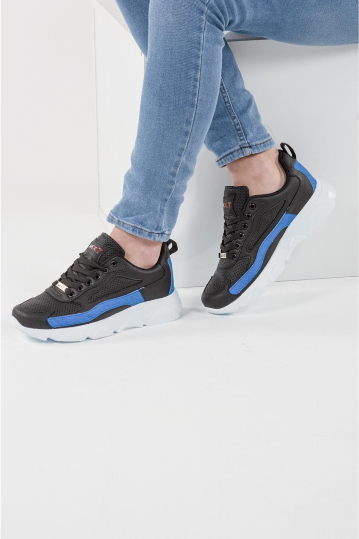 AKX 7 029 Siyah Sax Beyaz Erkek Spor Ayakkabı 1