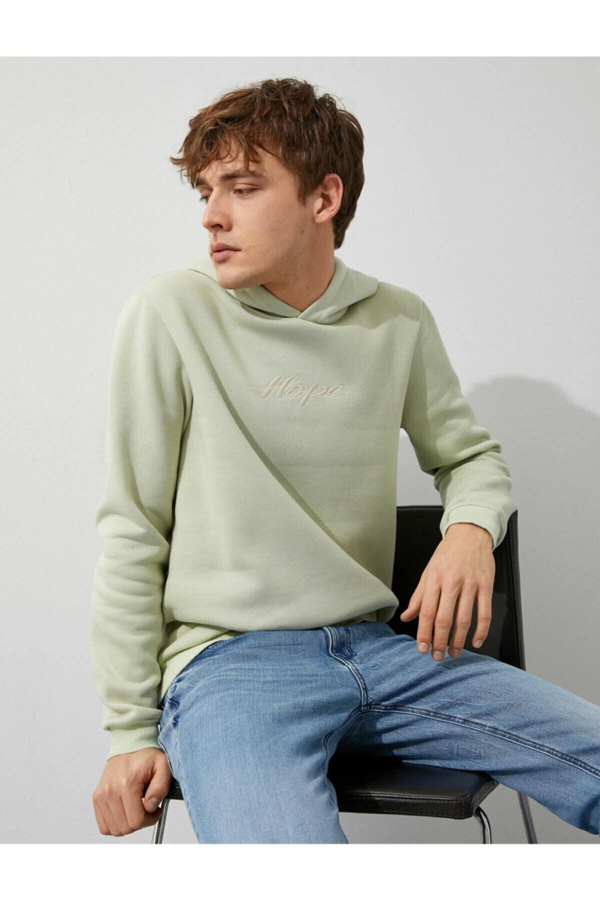 Koton Erkek A.Yeşil Sweatshirt 1YAM71596LK 1