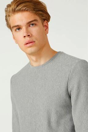 Loft Erkek Bisiklet Yaka Uzun Kollu Gri T-shirt Lf 2025550