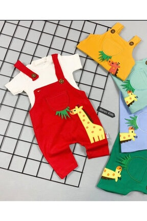 Beren Kids Zürafa Görselli Bebek Slopet Takım