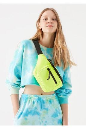 Mavi Kadın Neon Sarı Bel Çantası